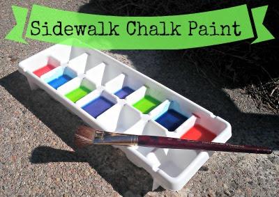 DIY Sidewalk Chalk Paint by Cookie Crumbles