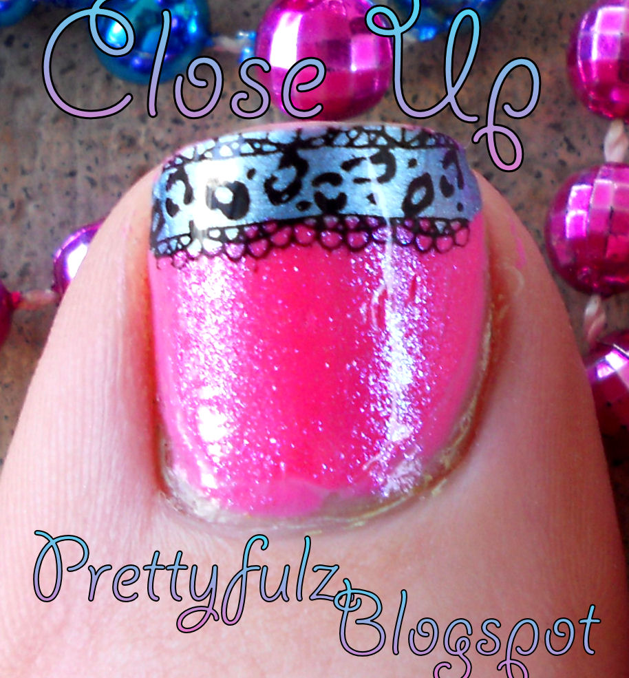 Prettyfulz Fall Nail Art Design 2011: Cute Spring Bright Pink & Blue