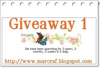 GIVEAWAY:3 years, 3 weeks & 3 days