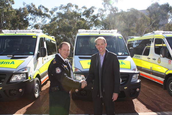 simon corbell and new ambulances