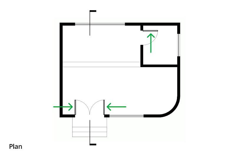 Flush Door Plan Elevation Section : Making doors look right in different ortho views