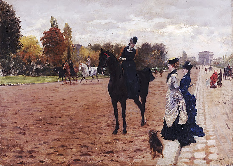 Giuseppe de Nittis - L'amazzone al Bois de Boulogne, 1875