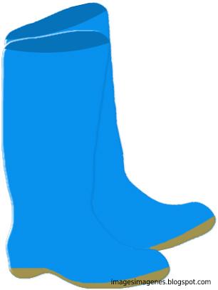 Botas de agua de color azul.
