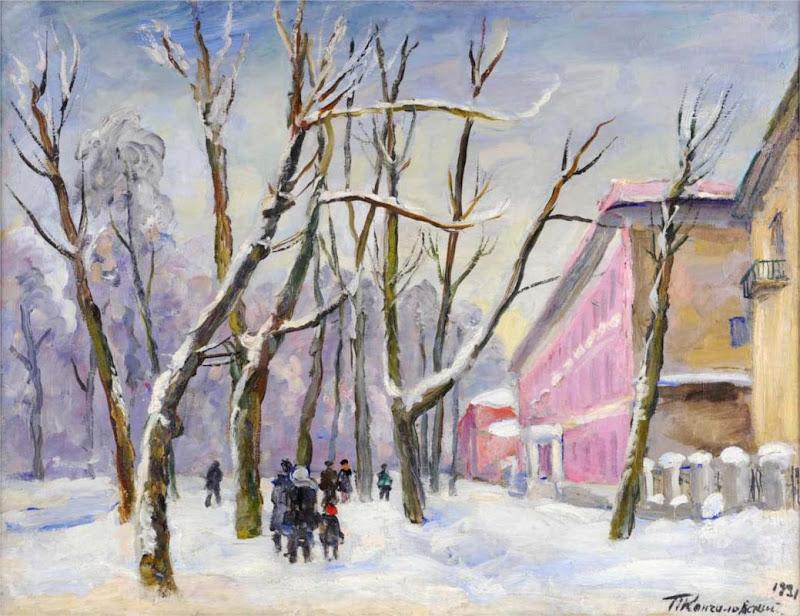 Pyotr Konchalovsky - Bolshaya Sadovaya. Pink House