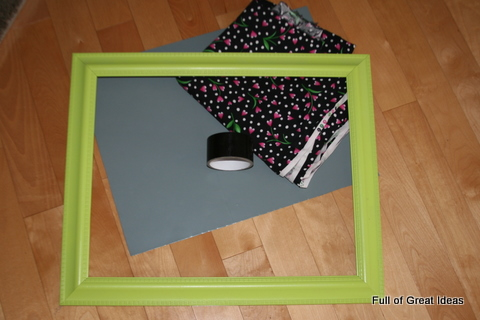 Full of Great Ideas: Framed magnetic board on my $0 budget