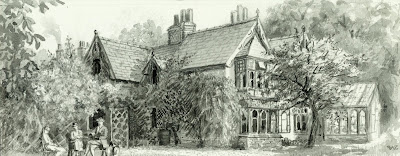 """The Brightsmith's House."" From A Record of Shelford Parva by Fanny Wale P34"