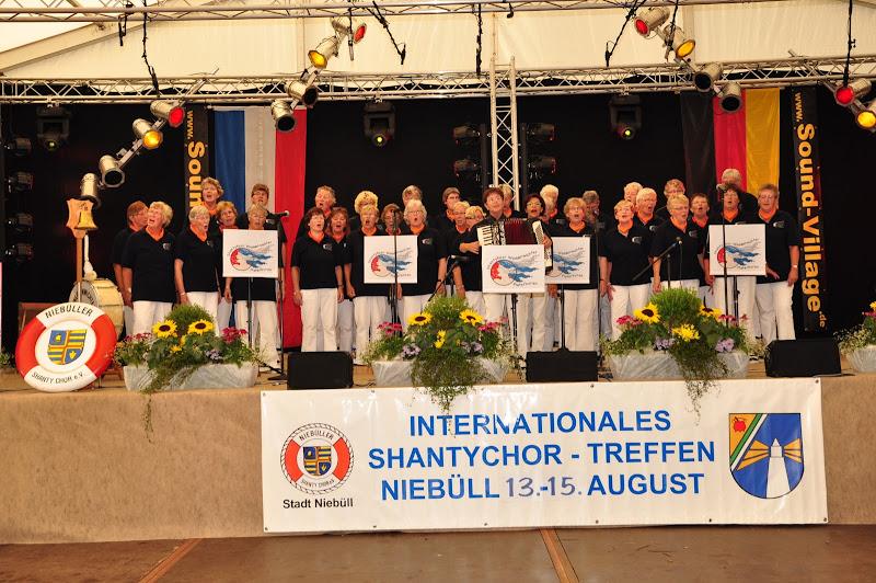 Op het podium in Niebull