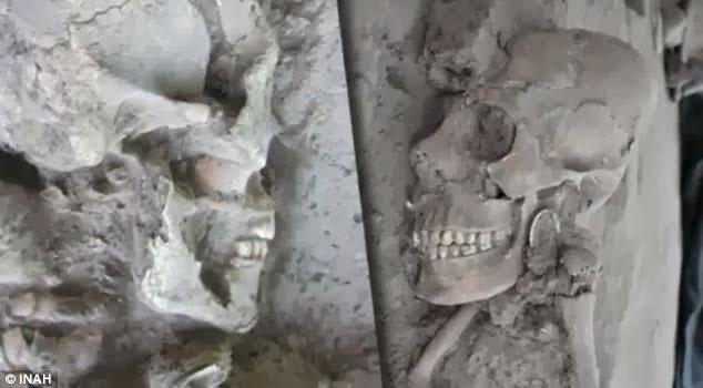 Caveiras encontrada em 2012 no México