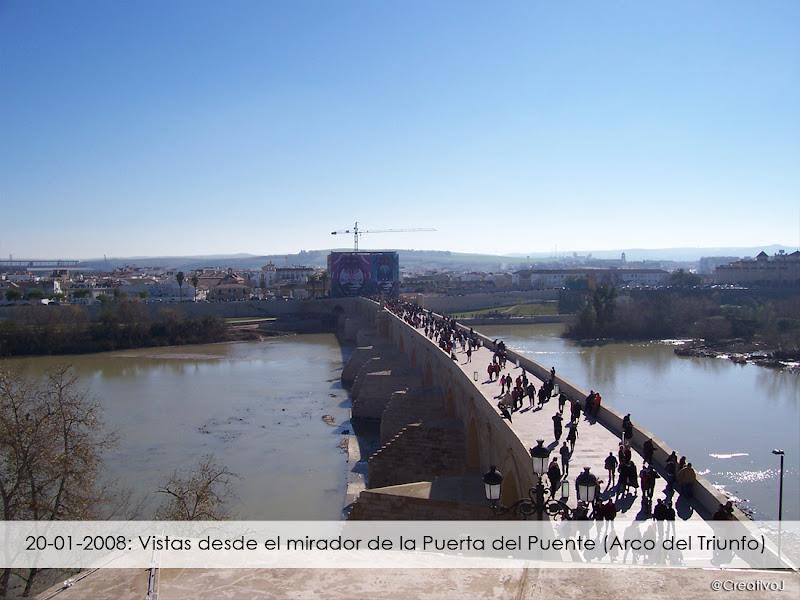 2008, Puerta del Puente, Puente Romano, Guadalquivir, Córdoba, mirador