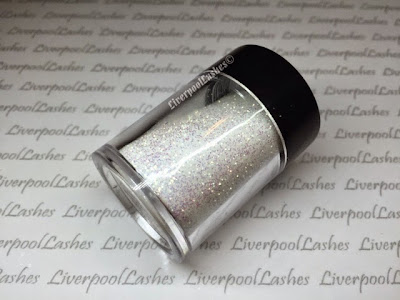 liverpoollashes liverpool lashes lecente iridescent glitter golden white capri