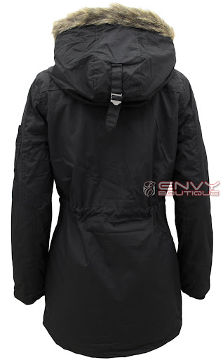 99727 LJK MILITARY CANVAS FAUX FUR HOODED JACKET BACK.jpg