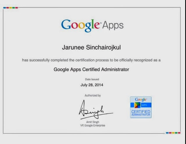 certification of achievement
