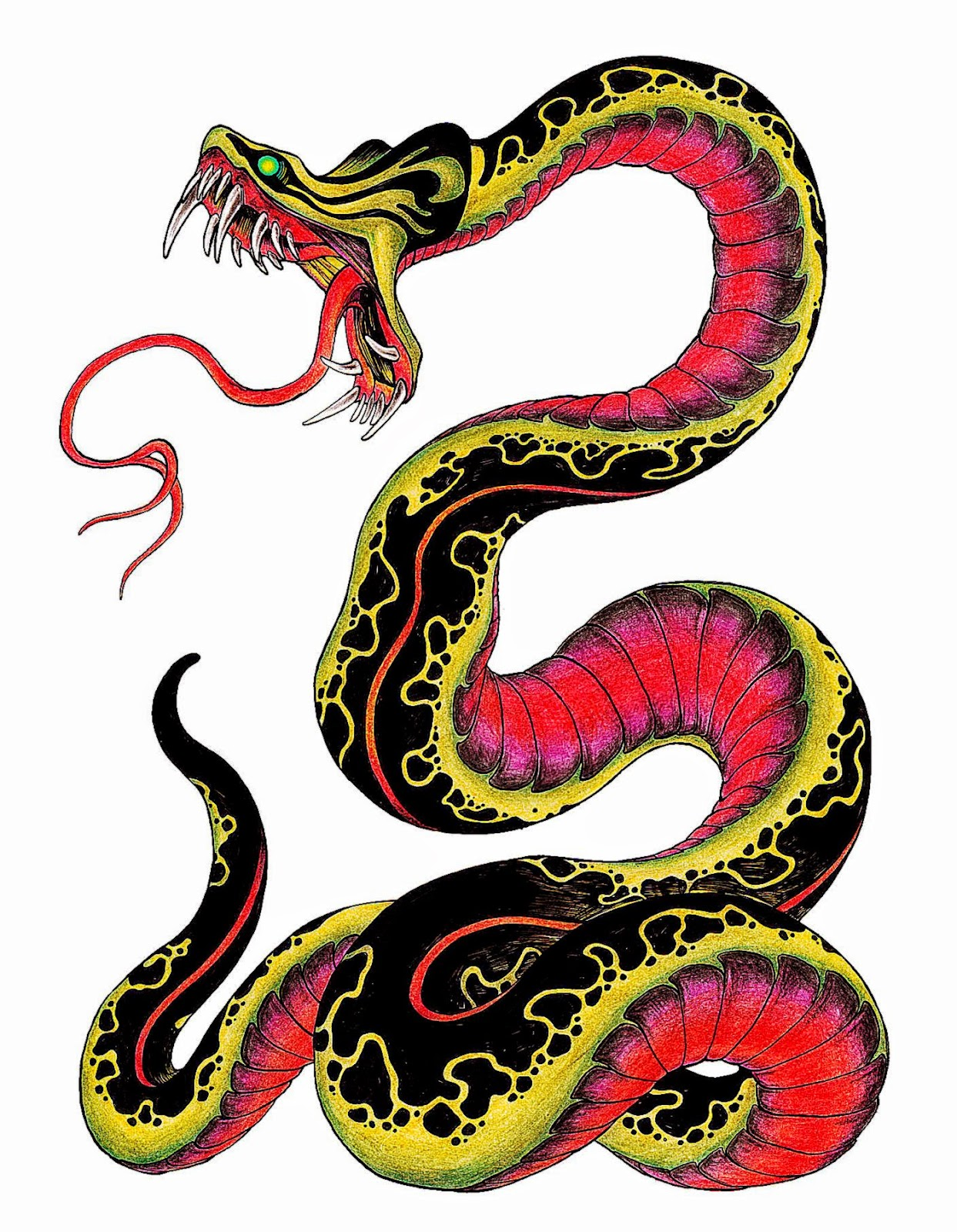 Snake tattoo design by burke5 on DeviantArt