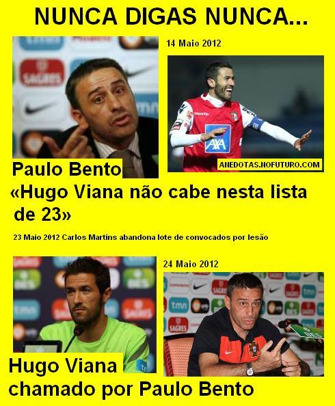 Paulo Bento em... nunca digas nunca!