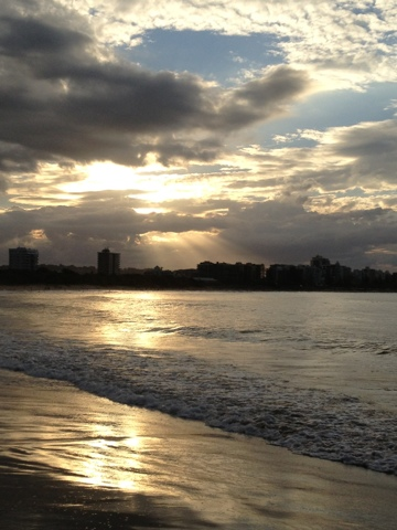 Natasha in Oz, Blogging from the Beach, #Mooloolaba #sunset