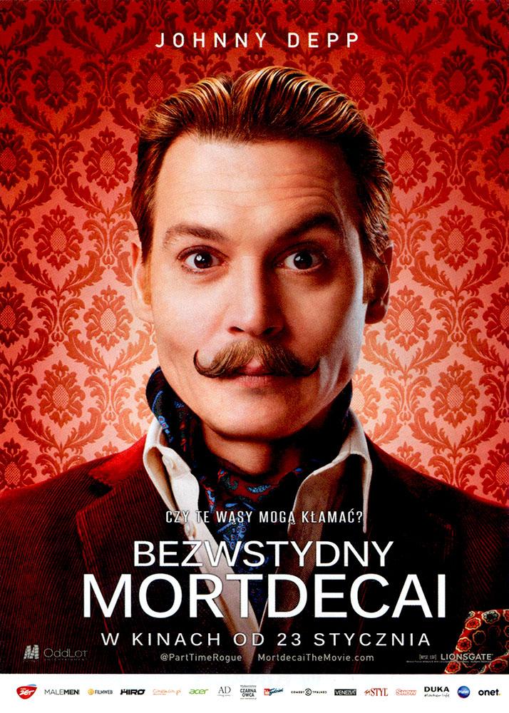 Ulotka filmu 'Bezwstydny Mordecai (przód)'