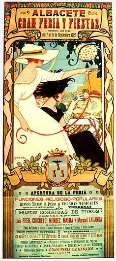 Cartel Feria Albacete 1922