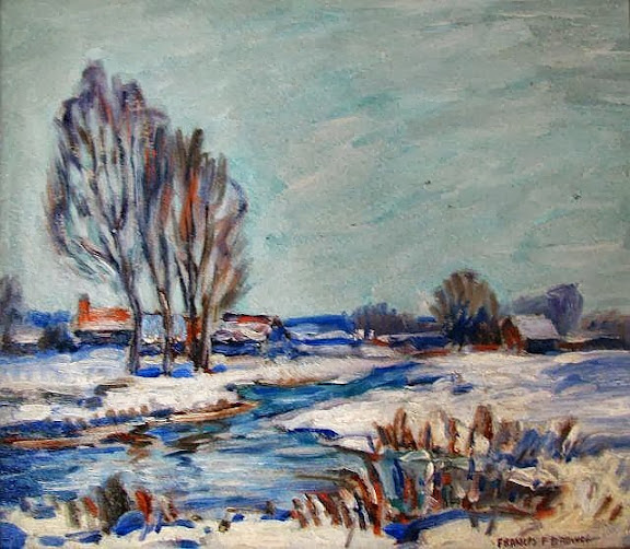 Francis Focer Brown - Snow Landscape