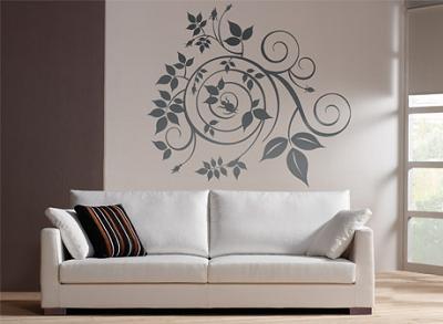 Como decorar paredes con vinilos aprender hacer - Pinturas para decorar paredes ...