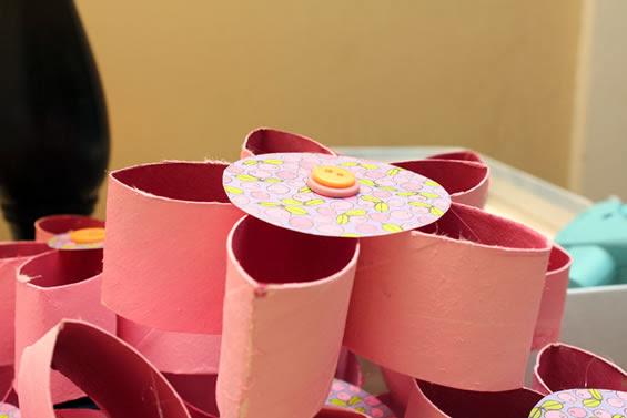 arte com rolos de papel