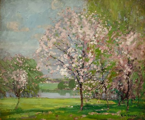 Karl Albert Buehr – Blossoming apple trees, Niles, Michigan