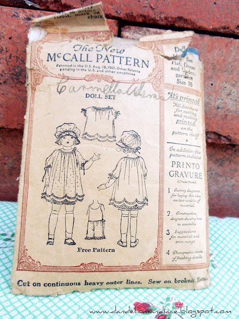 antique McCall's doll dress pattern