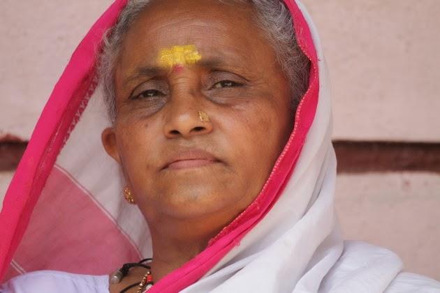 The face of a Lambani Tribal Woman at Dandeli, NW Karnataka
