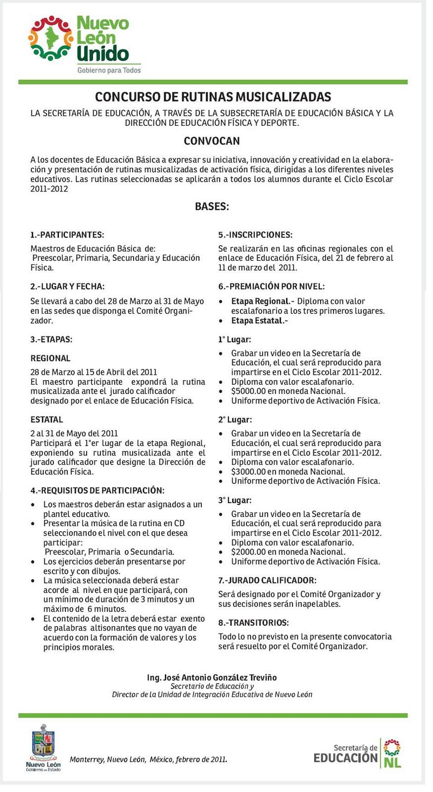 Inspeccion zona4 region6 convocatoria a maestros de for Convocatoria de maestros
