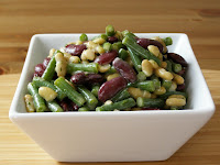 3 Bean Salad with a Lemon Dill Vinaigrette