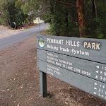 Sign at Pennant Hills Park (82810)