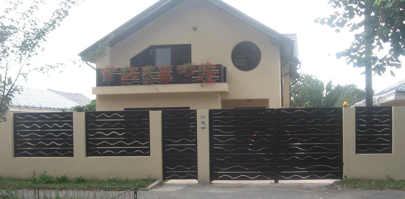 Usi si ferestre gard lemn masiv model bds for Modele de garduri pentru case