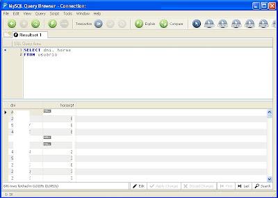 Crear consulta Access para actualizar datos de tabla MySQL