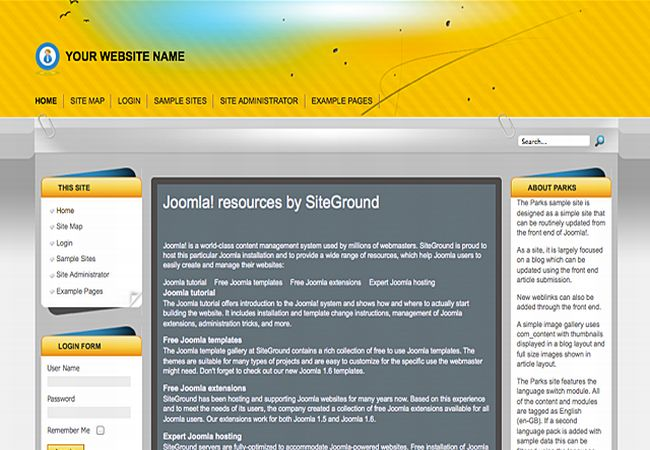 Yellow Business Gray Joomla Template