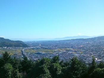 田子の浦と伊豆半島