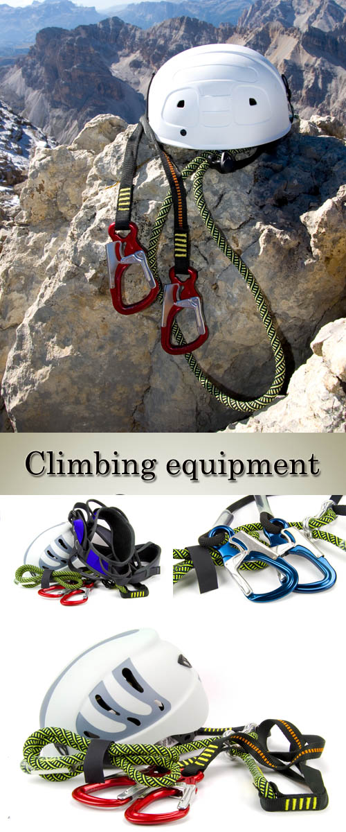 Stock Photo: Climbing equipment