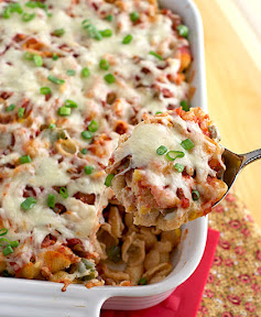 Nacho pasta bake