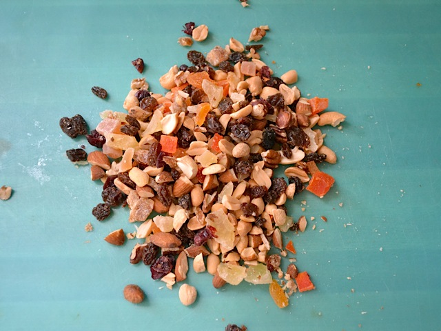 chopped fruit nuts