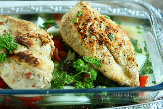 Arabic Style Baked Chicken With Dried Plums and Herbs