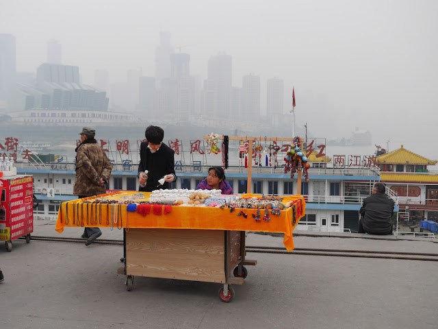 Vendor at Chaotianmen