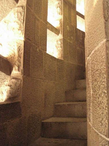 サグラダファミリアらせん階段@バルセロナ