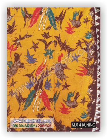 Model Baju Batik, Baju Grosir, Kain Batik, MJ14 KUNING