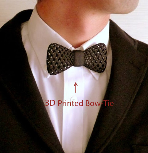 3D Printing, 3D Printer, 3D Printed stuff, 3D Printed material, Kolkata Bloggers, 3D Printed bowtie, 3D Fashion, 3D printed fashion