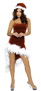 Christmas Feather Dress