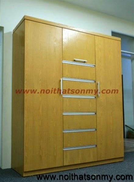 Tủ quần áo gỗ ghép 01