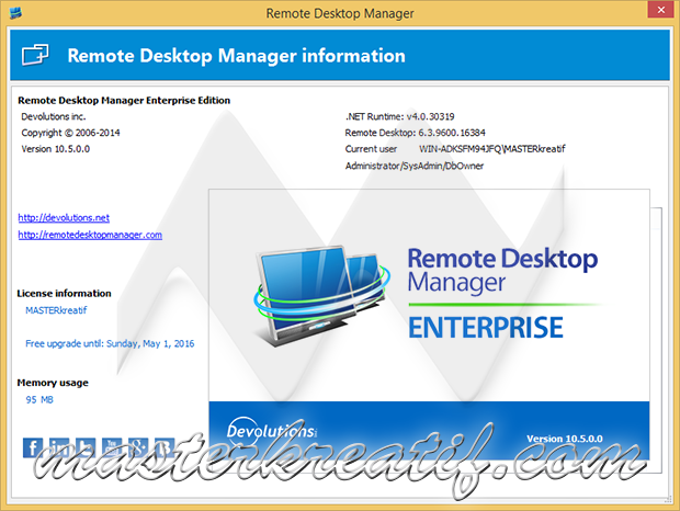 Remote Desktop Manager 10.5