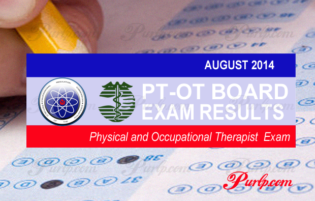 August 2014 Physical and Occupational Therapist Exam Results
