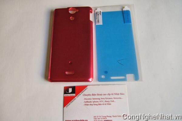Ốp lưng Sony Xperia V (AX SO-01E) cứng mầu hồng