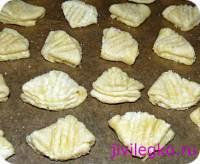 Рецепт Печенье из творога гусиные лапки