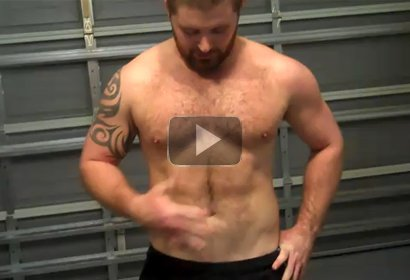 2 Cocky Hairy Muscle Men Compare Body Hair
