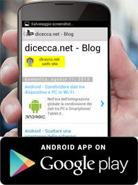 App Android dicecca.net - Blog
